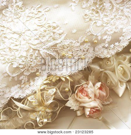Fondo de boda textil