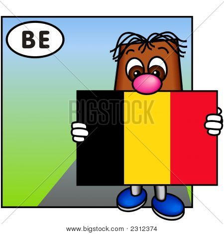 'Brownie' Showing The Flag Of Belgium