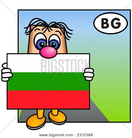 'Paley' Showing The Bulgarian Flag