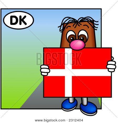 "'Brownie' Showing The Danish Flag ""Dannebrog"""