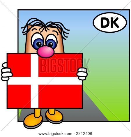 'Paley' Showing The Flag Of Denmark