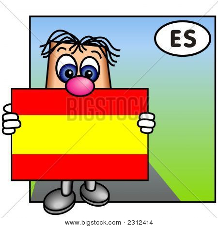 'Paley' Showing The Flag Of Spain