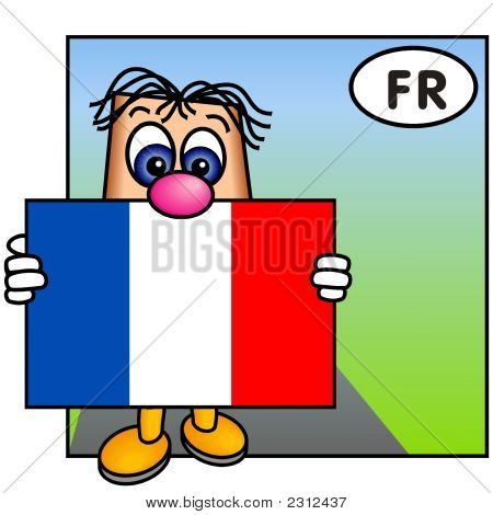 'Paley' Showing The Flag Of France