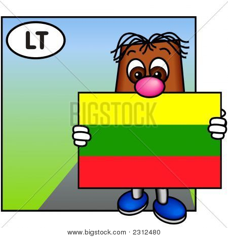 'Brownie' Showing The Flag Of Lithuania