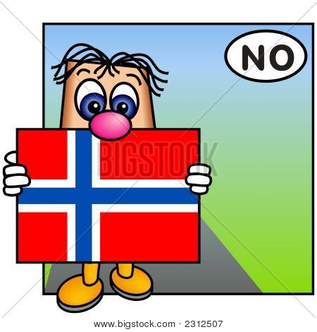 'Paley' Showing The Flag Of Norway