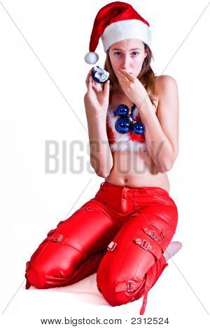 Girl With Broken Christmas Ball