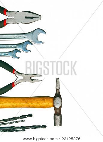 Eine Reihe von Tools - isolated on white Background, Clipping-Pfad