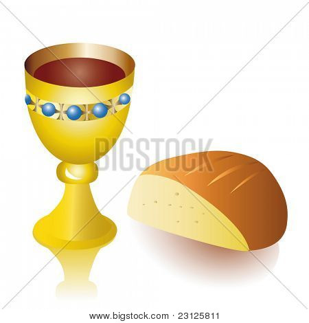 Holy Communion with Bread and Cup