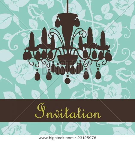 Glamour invitation with a lamp
