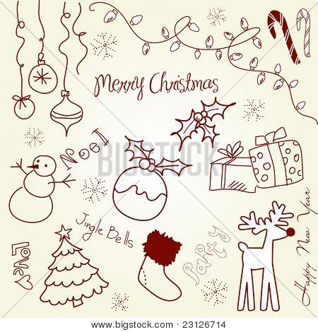 Cute Christmas and doodles