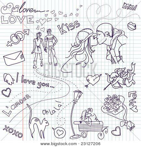 Valentinstag-Gästebuch-Seite