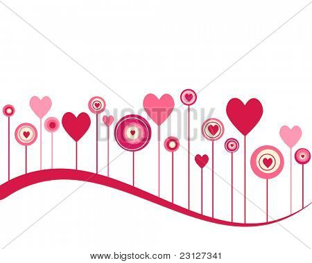Cute vector valentine background