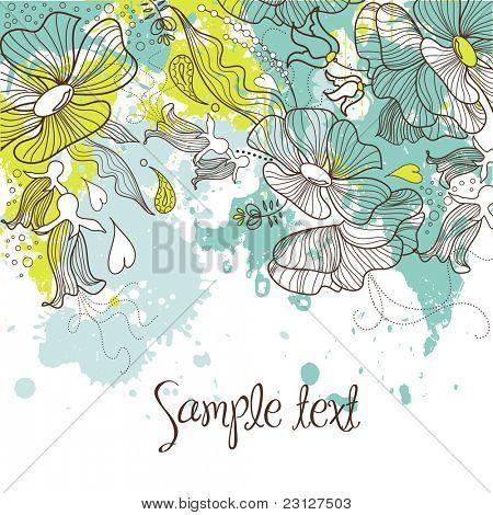 Stilvolle Blumen Hintergrund