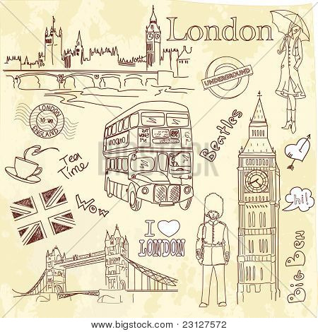 London doodles