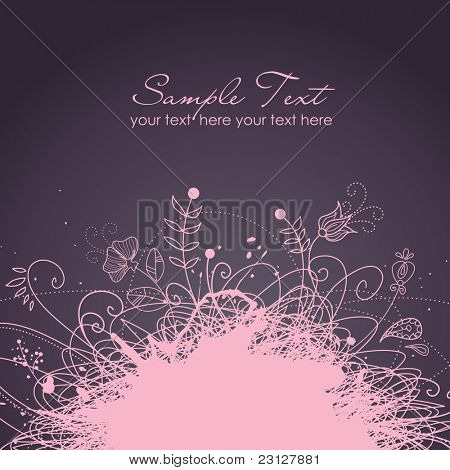 Stylish floral background