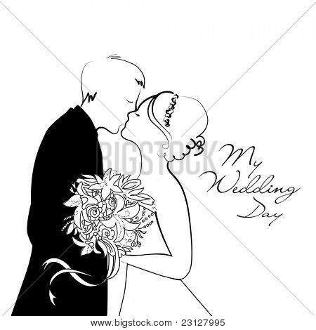 Fundo de casamento preto e branco