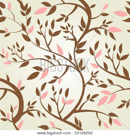 Vector seamless pattern with spring branches
