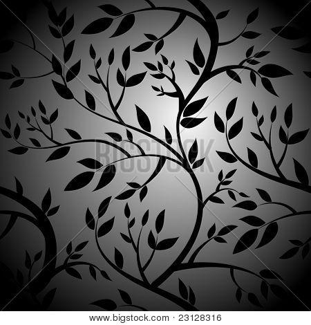 Black Trees. Seamless vector wallpaper