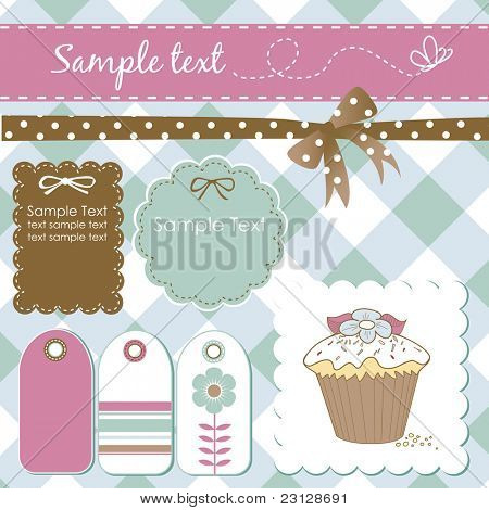 Vintage scrap-booking elements