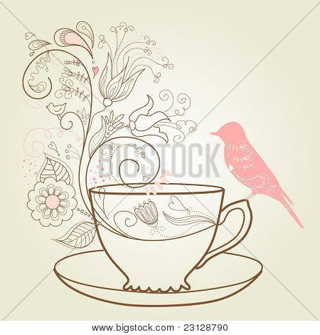afternoon tea concept