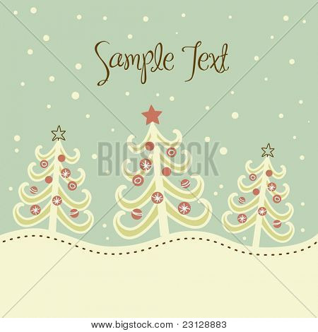 Christmas tree background, vector illustration