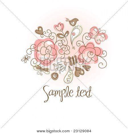 folk floral background
