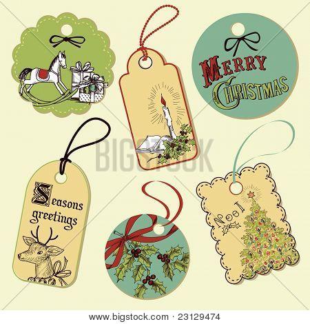 Vintage Weihnachten-Markierungen