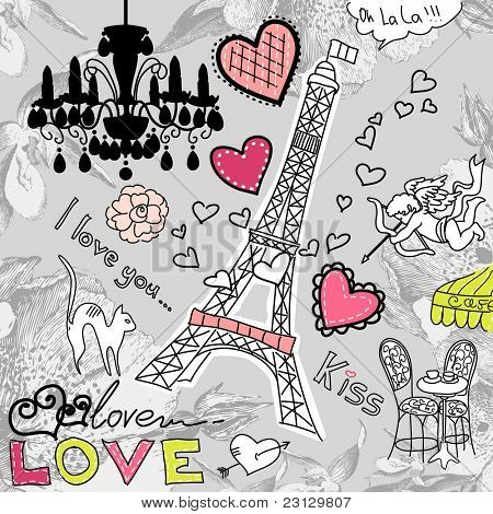 LOVE in Paris doodles