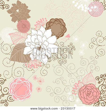 Vector Flower (Seamless Pattern)