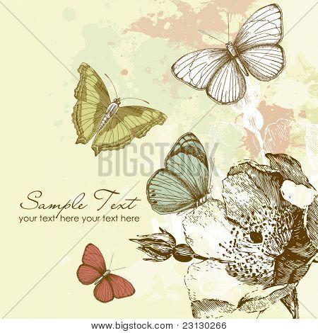 Fondo de mariposa
