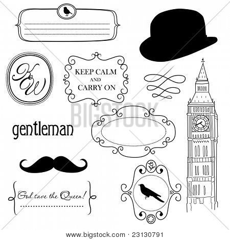 Doodle frames in British style
