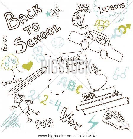Back to school doodles