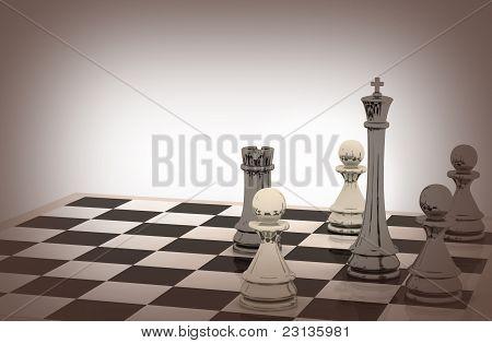 3D Schach-Hintergrund