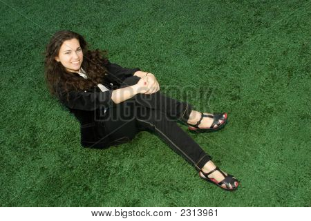 Sitting On The Grass