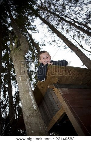 Young Boy In A Hut