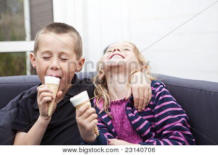 Eating Ice-cream