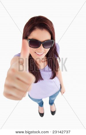 Charming Woman With Sunglasses