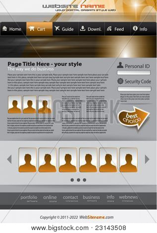 Hitech Style business website template for elegant corporate sites with a lot of desgin elements included. Shadows are transparent.