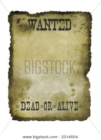 Dead Or Alive Western Sign