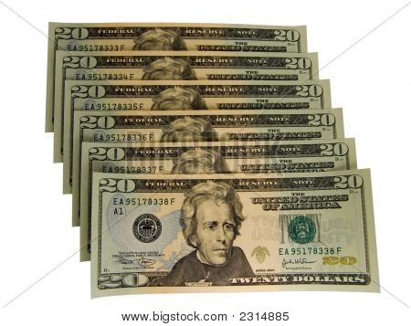 Us 20 Dollars Bills