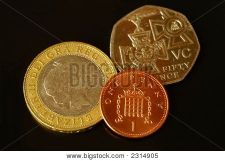 Three British Coins