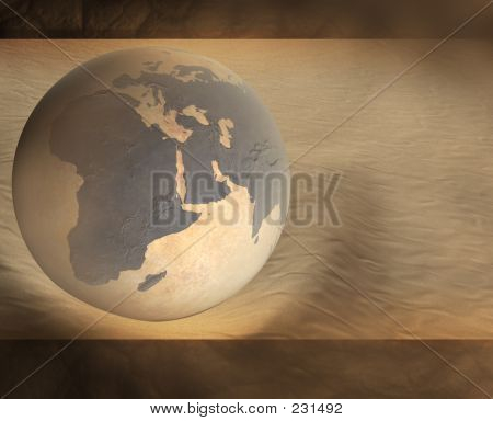 Picture or Photo of Desert earth on dune 3d