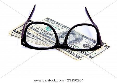 Eyeglasses On Hundred Dollar Notes