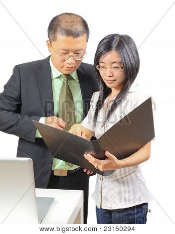Young Chinese Business People