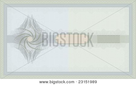 raster Voucher Guilloche blue green