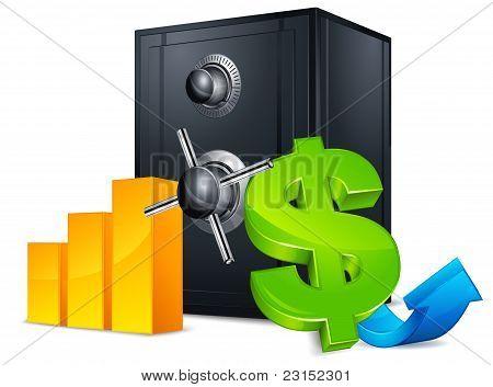Bank Safe Concept