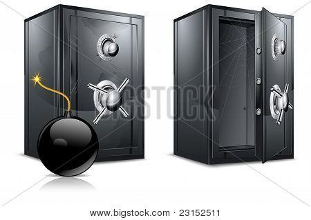 Bank Safe & Bomb