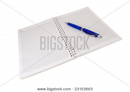 Open Writing-book With The Handle