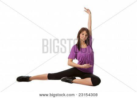Young Women Doing Stretching