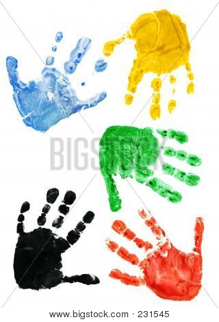 Prints Of Hands Of The Child